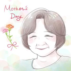 母の日似顔絵